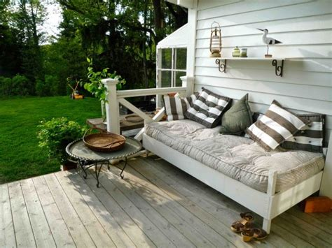 outdoor porch bed creating outdoor spaces for country living