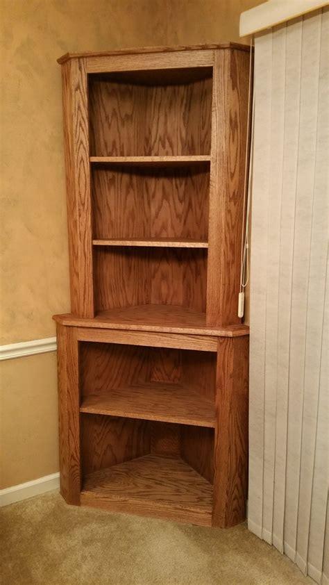 collection  corner oak bookcase