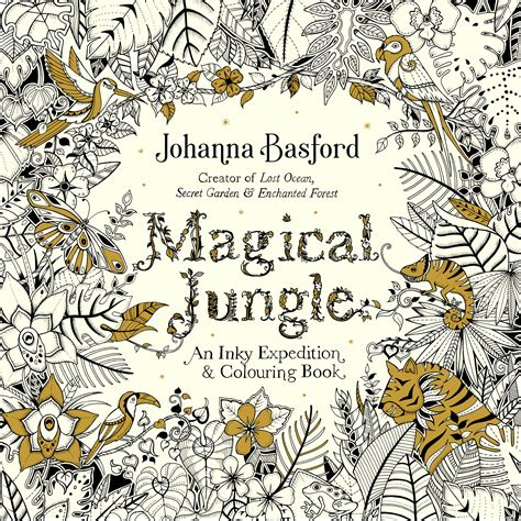 Magical Jungle colouring book, by Johanna Basford