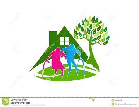 Senior Care Logo, Elder People Symbol Icon, Healthy
