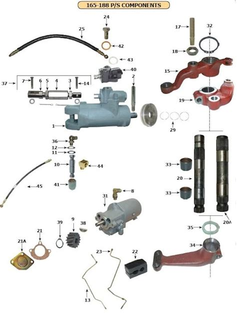 Mf 282 Wiring Diagram by Front Axle And Steering