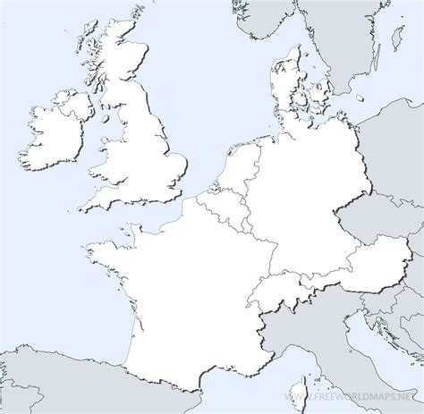 northern europe blank map  travel information