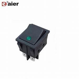 China On Off Illuminated 220v 4 Pin Rocker Switch With Dot
