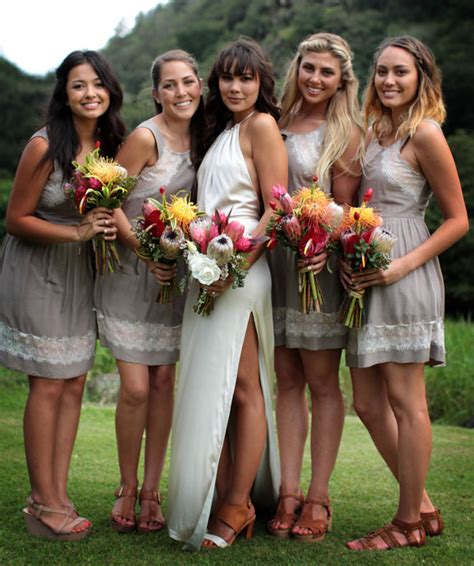 hawaiian bridesmaids