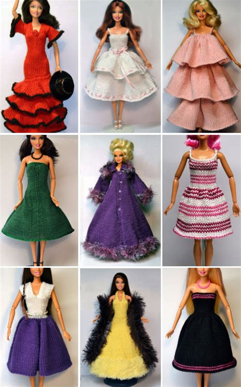 barbie clothes knitting patterns patterns