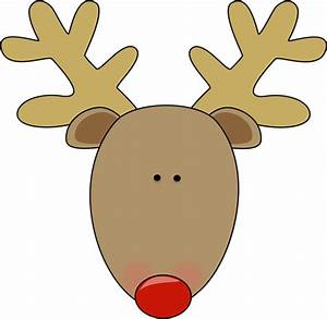 reindeer face template clipart best With reindeer face template printable