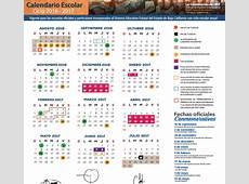 Calendario escolar 20162017 para preescolar, primaria y