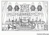 Temple Coloring Egypt Pages Colorkid Ancient Architecture sketch template