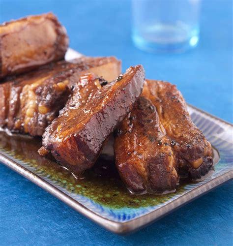 cuisine au miel travers de porc caramélisés au miel les meilleures