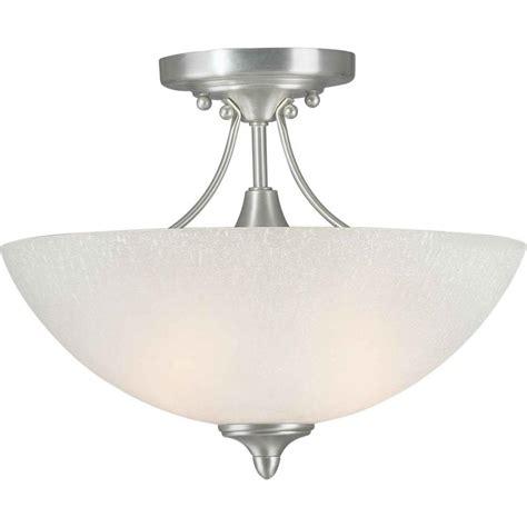 Talista Burton 2 Light Brushed Nickel Incandescent Ceiling