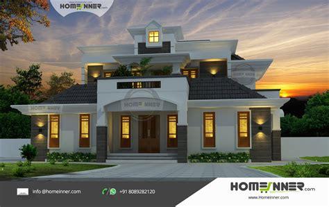 premium luxury villa kerala traditional  modern architecture home design