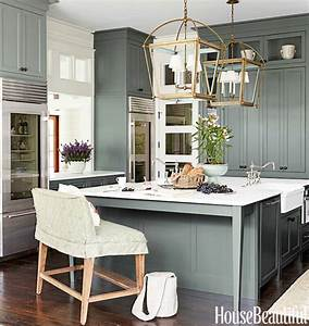 green kitchen cabinets cottage kitchen sherwin With what kind of paint to use on kitchen cabinets for modern art metal wall decor