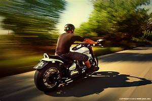 Riding Motorcycle On The Country Road