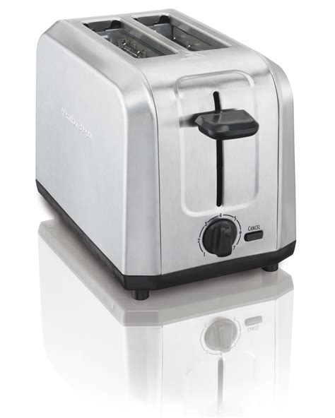 toaster stainless hamilton 22910 brushed stainless steel 2 slice toaster