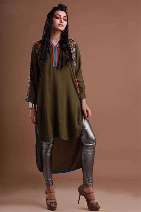 latest winter fashion long shirts dress designs collection