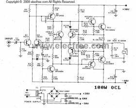 power amp ocl 100w by transister mj15003mj15004 circuit With power amplifier ocl 100w with mj802 mj4502