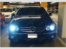 Mercedes CLK350 with a pair Brilliant Blue 8000K Optimal
