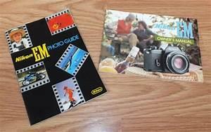 Genuine Vintage Replacement Nikon Em Owner U0026 39 S Manual