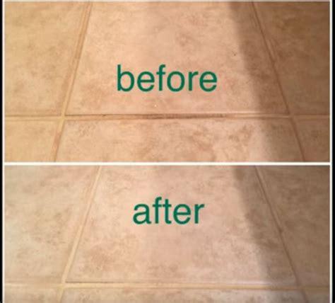 clean tile floors  vinegar  baking soda
