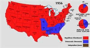 William H Taft Bathtub by 1956 Electoral Map Gif