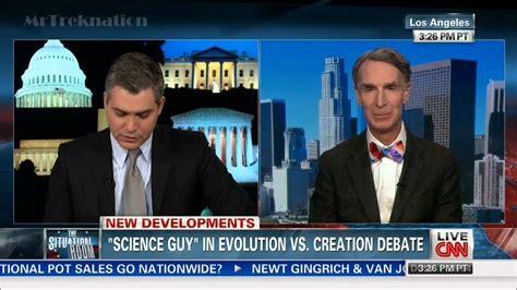 Bill Nye  Talks About Upcoming Debate Creationism Vs Evolution  Cnn Youtube