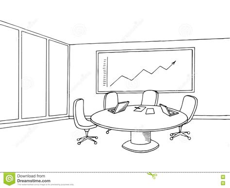 principal039s office clipart black and white office meeting room interior black white graphic