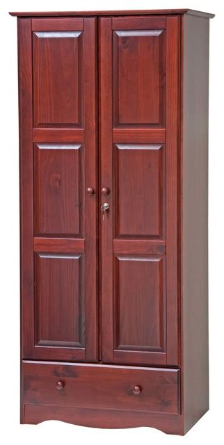 Wardrobe Closet 100 by 100 Solid Wood Wardrobe Armoire Closet
