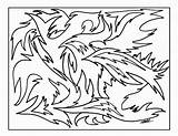 Pages Abstract Coloring Printable Colouring sketch template