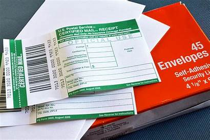 Certified Mail Letters Prepare Letter Service Proof