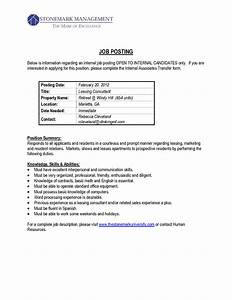 best photos of job posting form internal job posting With sample cover letter for an internal position