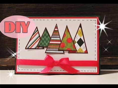 weihnachtskarten selber basteln  weihnachtsbaum