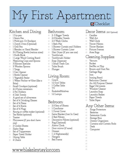Appartment List by My Apartment Free Printable Go Check It Out Http