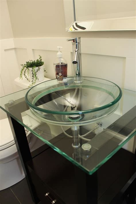 bathroom glass sink bowls how to decorate a bathroom without clutter 15977