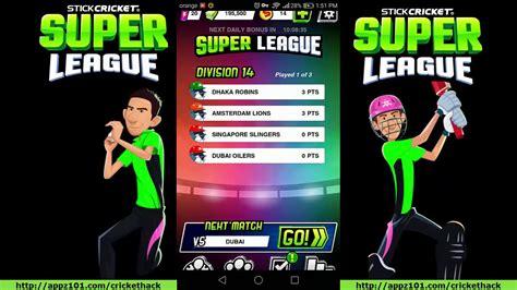stick cricket league hack stick cricket league cheats stick cricket mod apk 2017