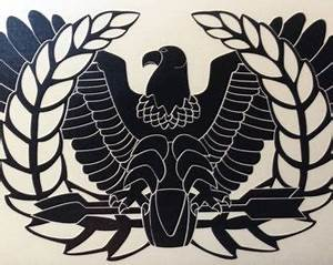 VINYL GRAPHICS DECAL WARRANT OFFICER EAGLE VER2 MILITARY DECAL VARIOUS SIZES