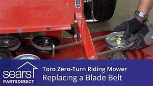 How to Replace a Toro Zero-Turn Riding Mower Blade Belt ...