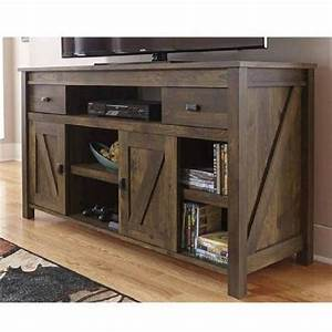 rustic tv stand console up to 60 barn wood farmhouse home With barn style tv console