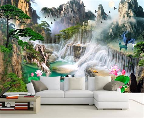 wall murals  wallpaper  living room bedroom tv