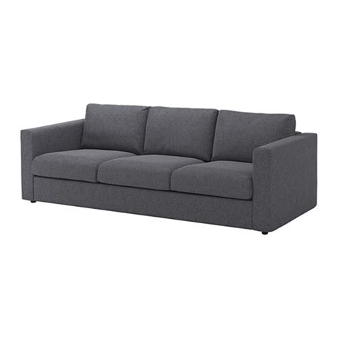 karlstad canapé vimle 3 seat sofa gunnared medium grey ikea