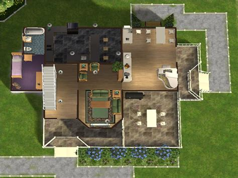 sims 3 floor plans for houses mod the sims 3 bedroom 3 bathroom family home