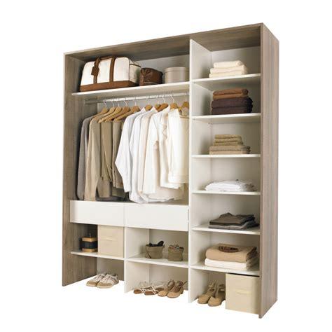 kit d 39 aménagement de placard clea gris blanc dressing