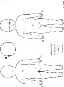 Child Body Diagram Front and Back