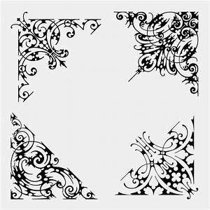 Ancient Scroll Designs Ornate Corner Designs Craftsmanspace