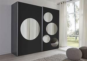 Schwebetürenschrank Schwarz Spiegel : schwebet renschrank schwarz spiegel rundspiegel ~ Markanthonyermac.com Haus und Dekorationen
