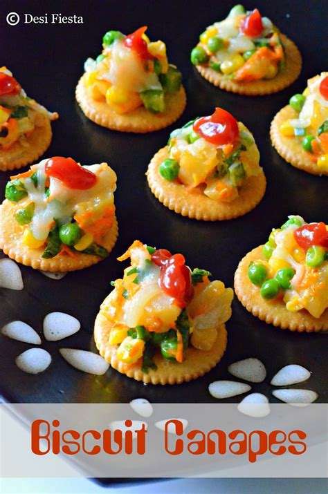 canapes recipes biscuit canapes with vegetable topping monaco canapes