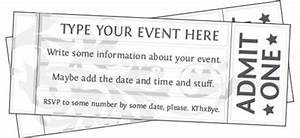 Free Printable Event Ticket Template to Customize