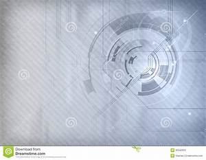 Grey tech background stock vector. Image of design ...