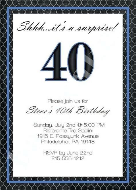 40th birthday invitation wording for men 40th birthday
