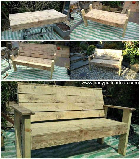 bench  pallets tutorial easy pallet ideas