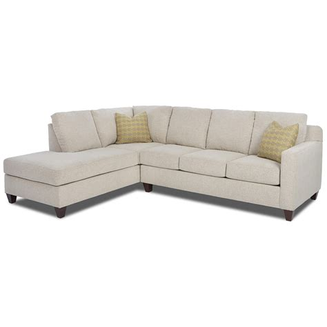 sectional sofa left arm chaise klaussner bosco contemporary 2 piece sectional with left